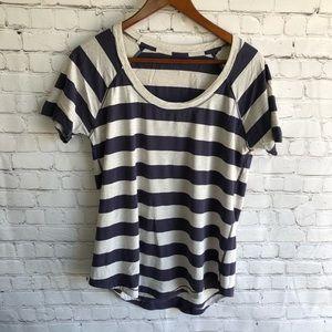LULULEMON Striped Tee Shirt Size XL